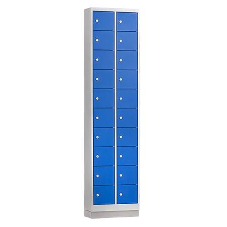 Mini locker 46cm breed, 2-koloms, 20-deurs