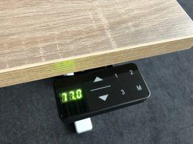 Bureautafel DUO H-poot electrisch zit/sta 160x80cm