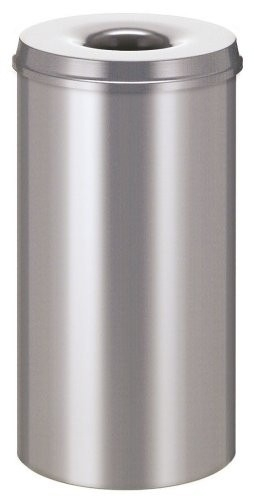 Afvalbak metaal 50 liter met vlamdover