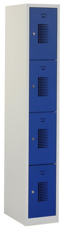 Premium locker 30cm breed, 1-koloms, 4-deurs