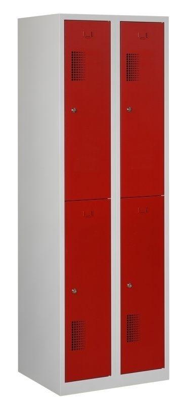 Premium garderobekast 30cm breed, 2-koloms, 4-deurs.