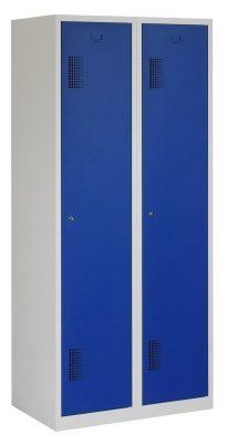 Premium garderobekast 80cm breed, 2-koloms, 2-deurs