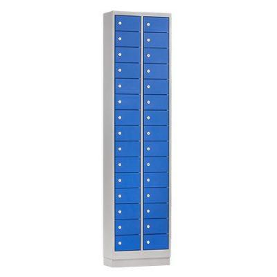 Mini locker 46cm breed, 2-koloms, 30-deurs