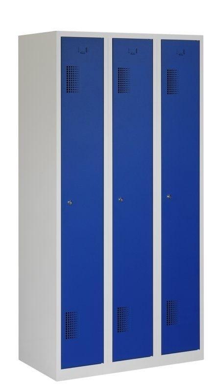 Premium garderobekast 90cm breed, 3-koloms, 3-deurs.