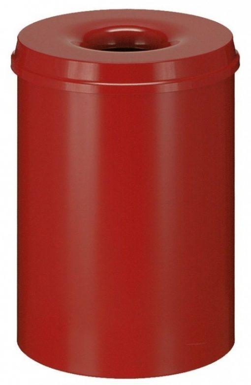 Afvalbak metaal 30 liter met vlamdover