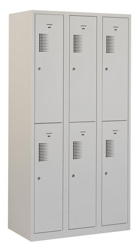 Premium garderobekast 30cm breed, 3-koloms, 6-deurs