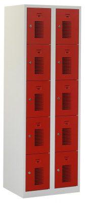Premium locker 60cm breed, 2-koloms, 10-deurs