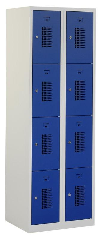 Premium locker 60cm breed, 2-koloms, 8-deurs
