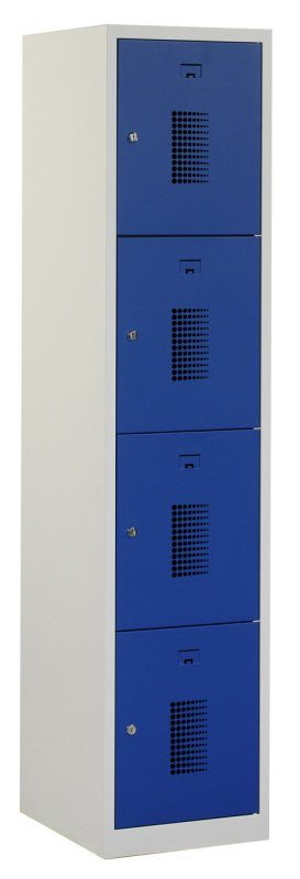 Premium locker 40cm breed, 1-koloms, 4-deurs