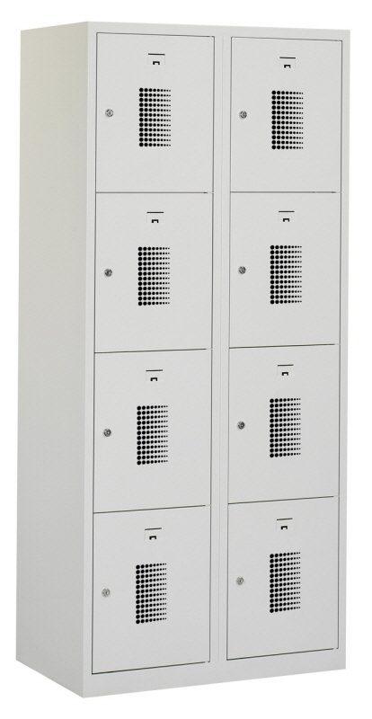 Premium locker 80cm breed, 2-koloms, 8-deurs