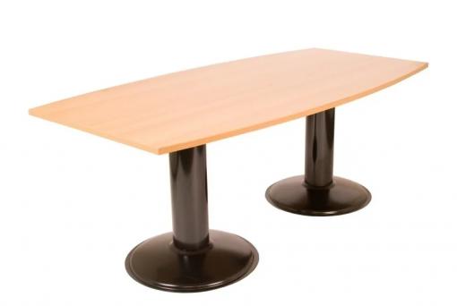 Vergadertafel kolomvoeten 200x100cm