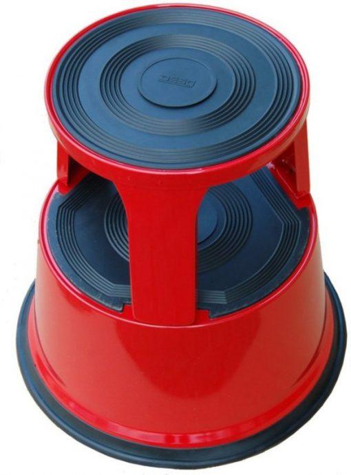 Roll-a-step opstapkruk rood