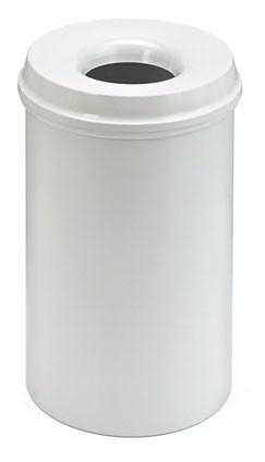 Afvalbak metaal 20 liter met vlamdover