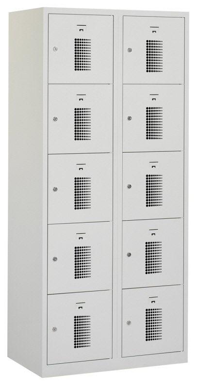 Premium locker 80cm breed, 2-koloms, 10-deurs
