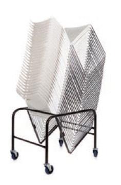 Kantine / bijzetstoel Como op transportkar