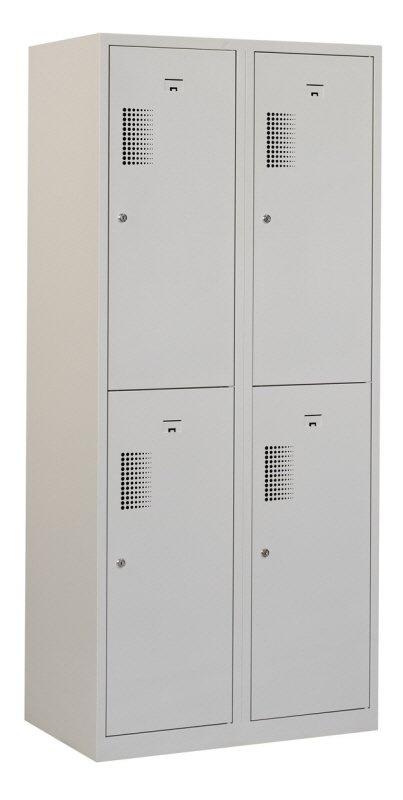 Premium garderobekast 80cm breed, 2-koloms, 4-deurs