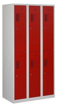 Premium garderobekast 30cm breed, 3-koloms, 6-deurs.