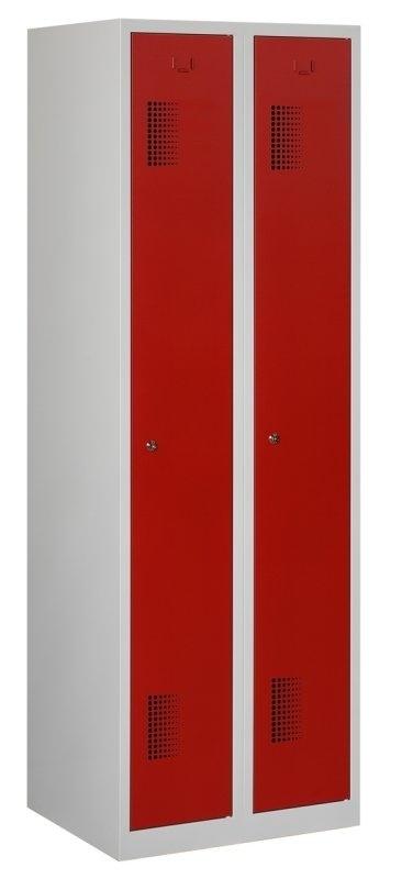 Premium garderobekast 60cm breed, 2-koloms, 2-deurs.