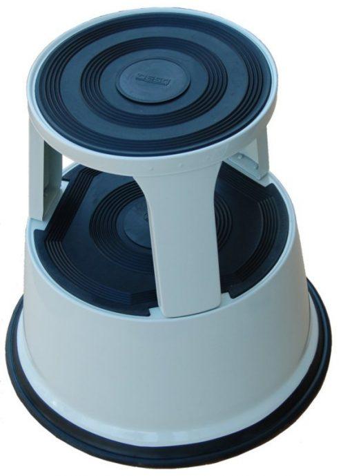 Roll-a-step opstapkruk grijs