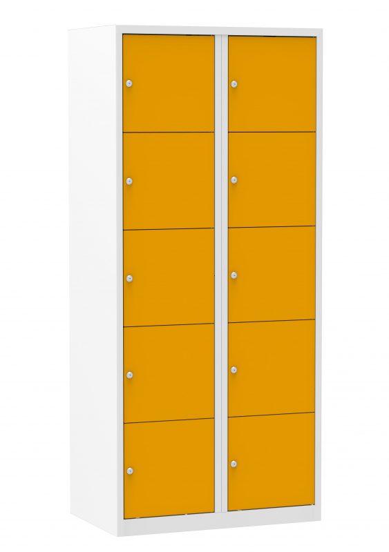 Multicolor locker kast 80cm. 2 kolommen 10 deuren