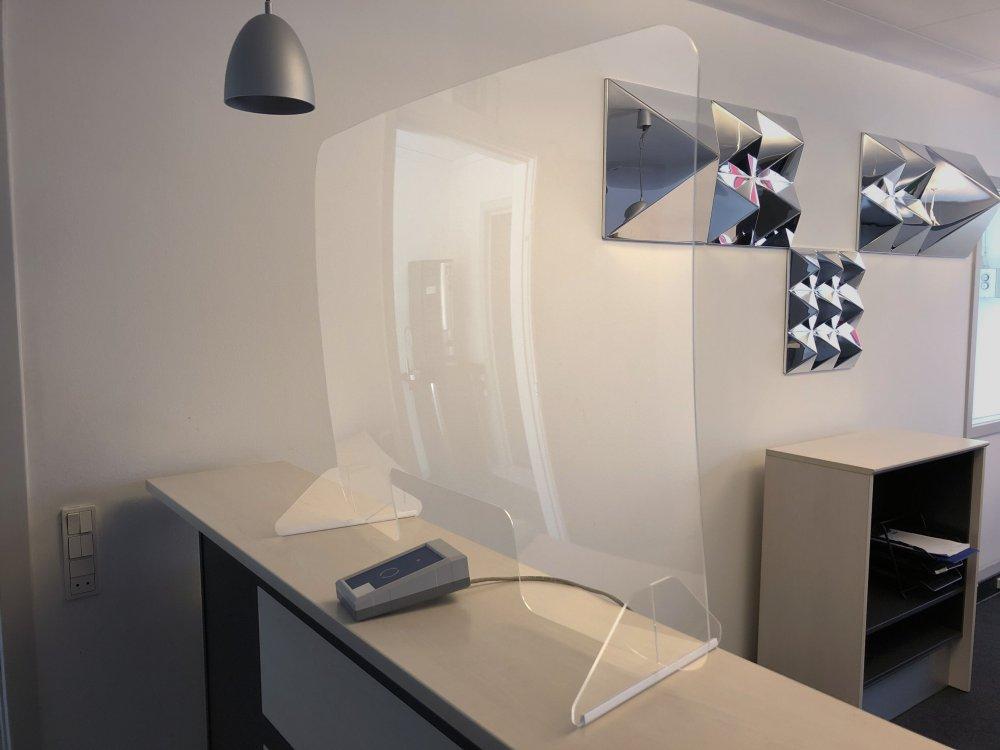 Plexiglas scherm 100x80cm.