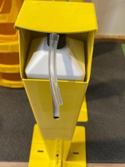 Desinfectiezuil met voetbediening kleur geel