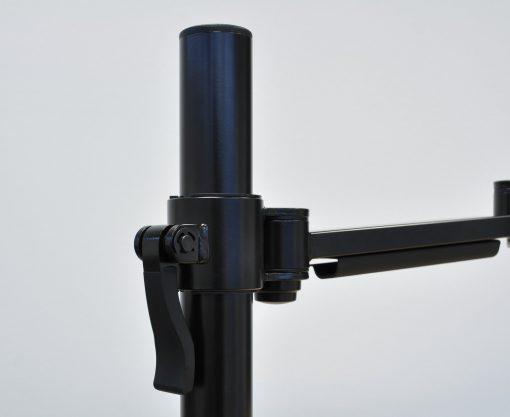 Enkele monitorarm met quick release, kleur zwart